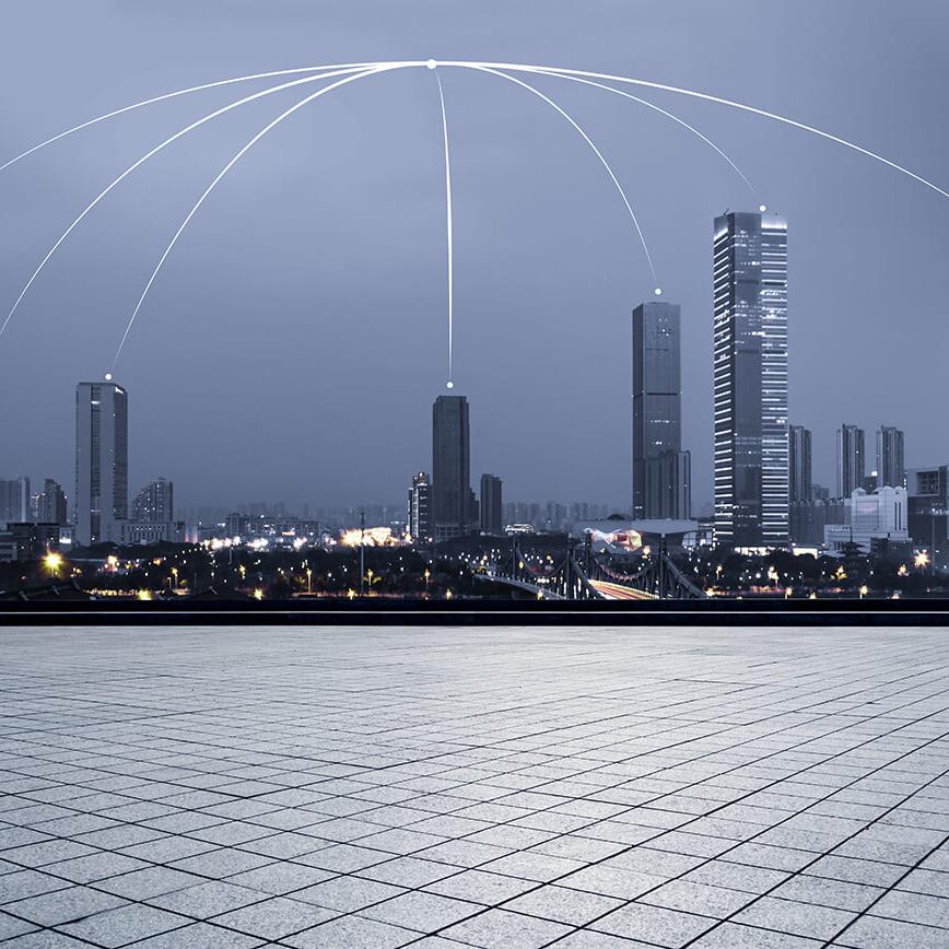 city landscape symbolizing globalization, translation and transcreation